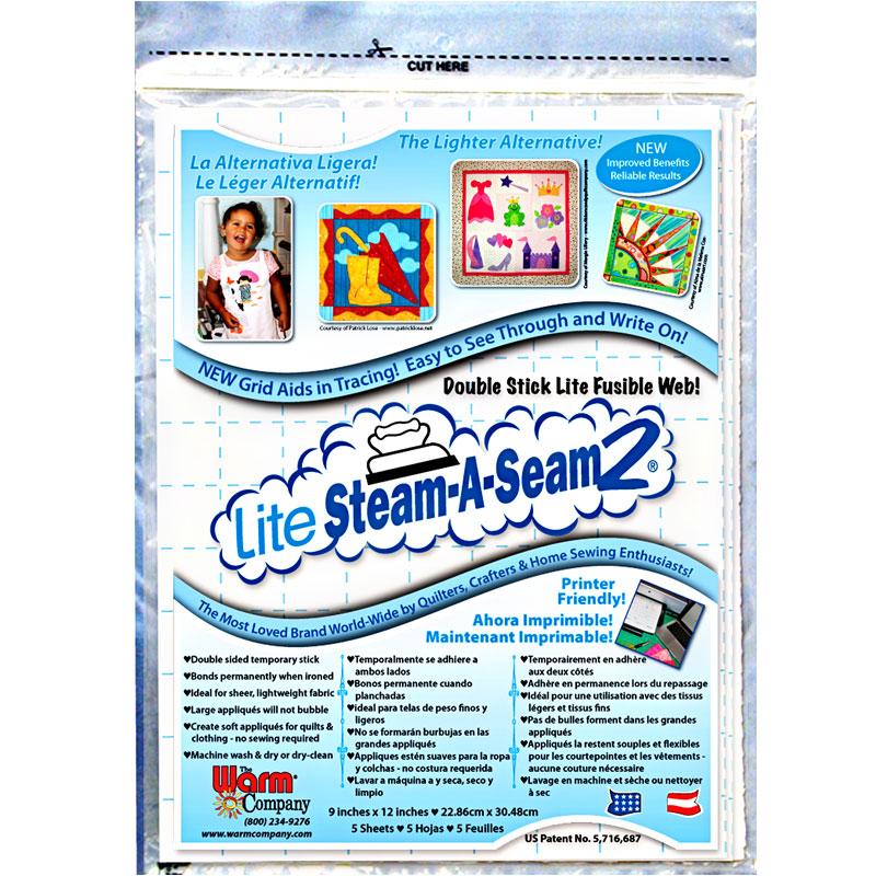 Lite Steam A Seam 2 9X12 Sheets