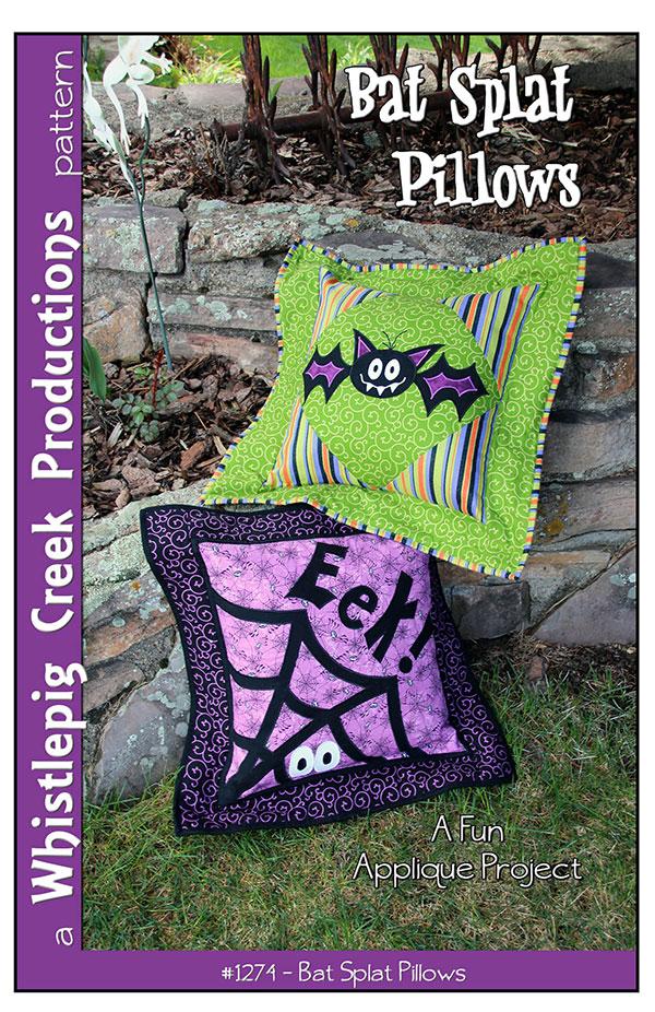 Bat Splat Pillows