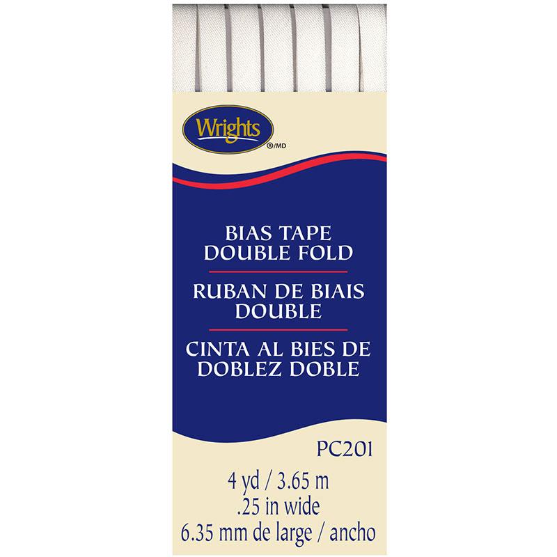 Double Fold Bias Tape White 030