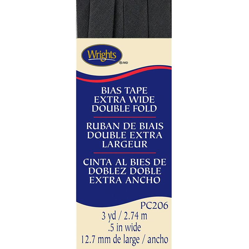 Extra Wide Double Fold Bias Tape Dark Grey 047