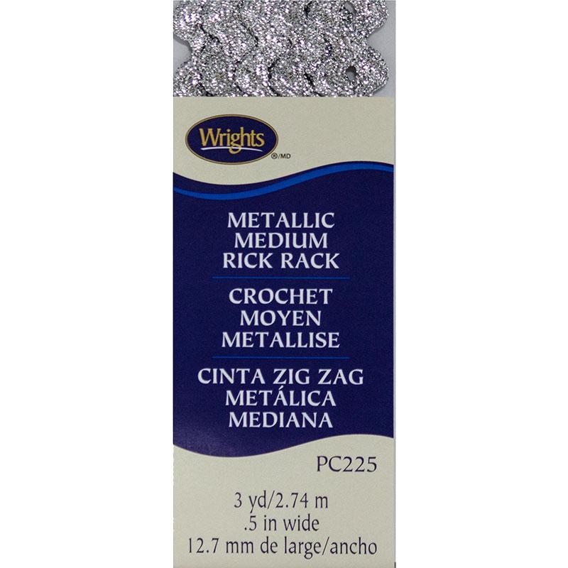 Medium Rick Rack Metall Silver