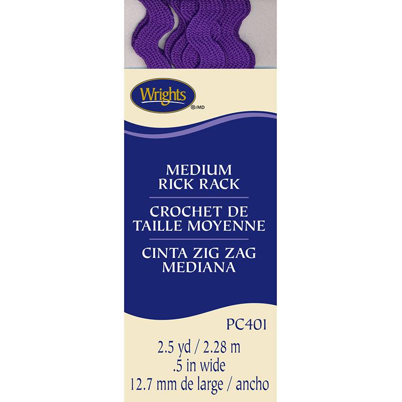 Wright's Purple Medium Ric Rac