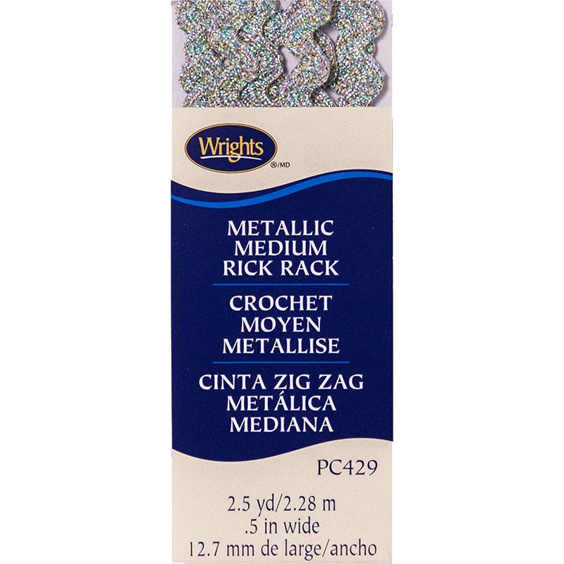 Rick Rack Medium 429 001 Rainbow Metallic