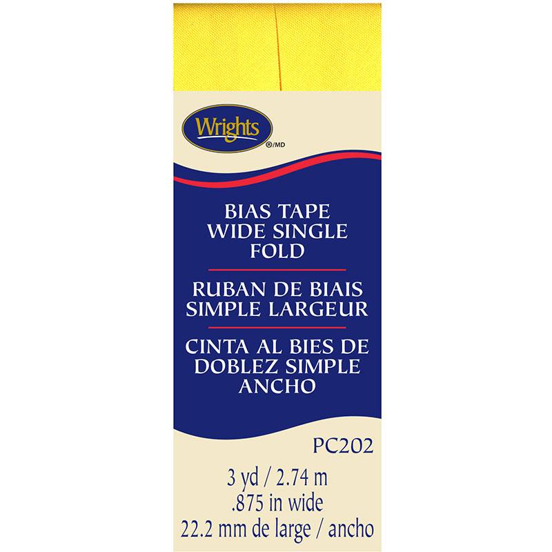 Wright's Bias Tape .875 Wide Single Fold Canary 202 086