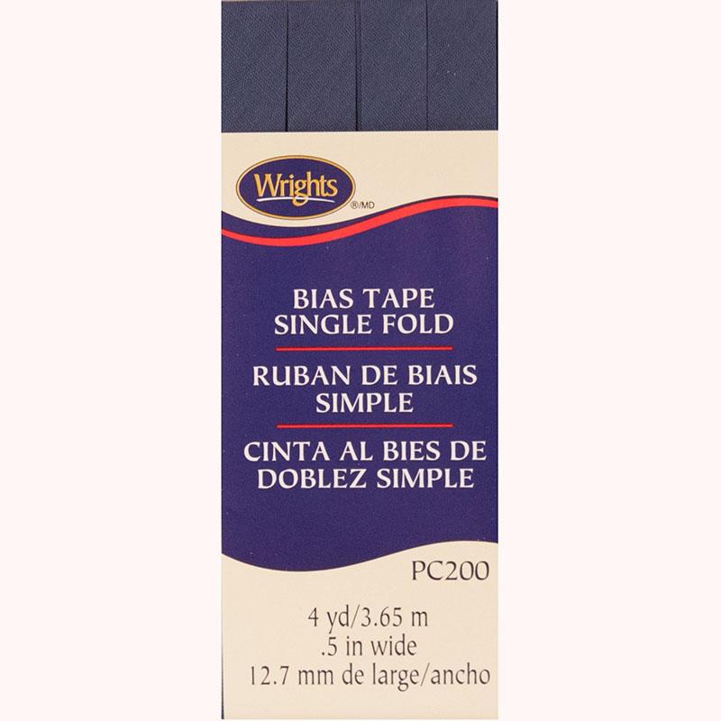Bias Tape Single Fold Stone Blue