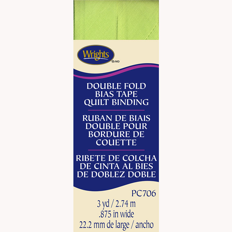 Double Fold Quilt Binding Lime Green 628