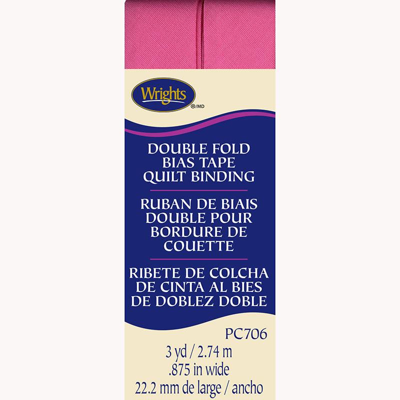 DF Bias Tape Quilt Binding Hot Pink