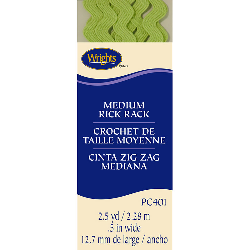 Medium Rick Rack Lime Green