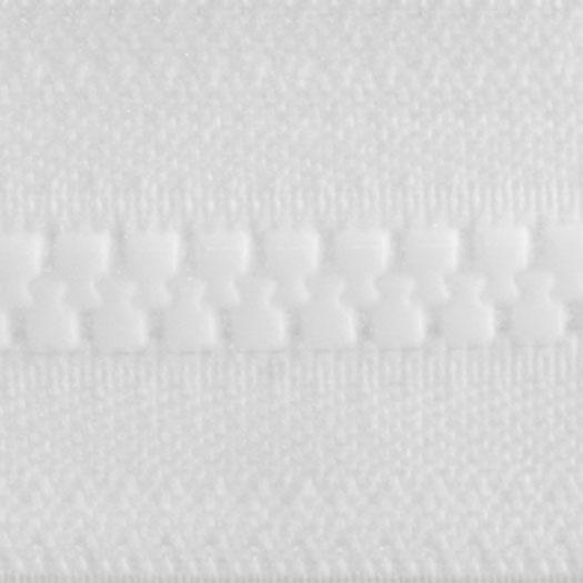 Fastrak Vislon Zipper 30 White