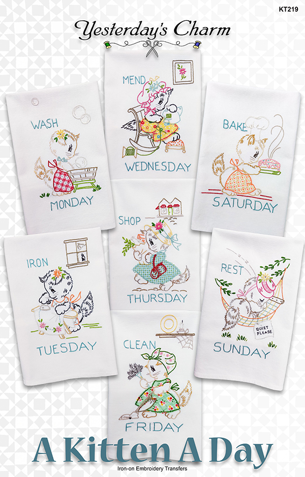 A KITTEN A DAY TEA TOWELS