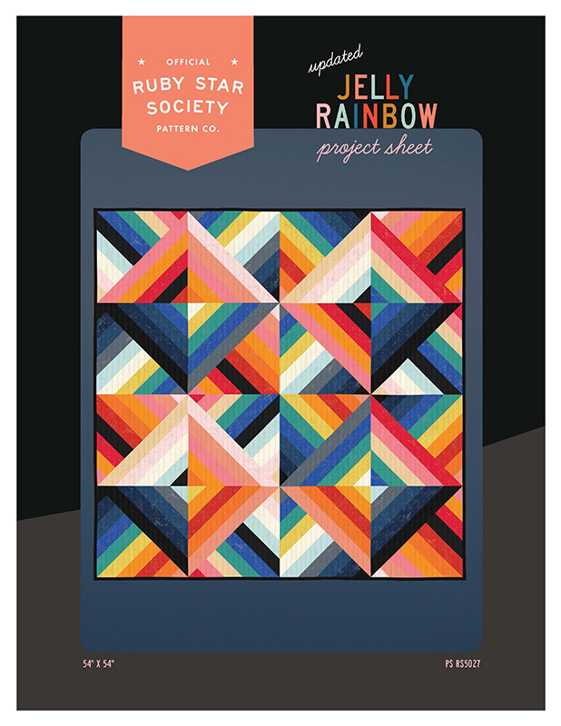 Jelly Rainbow Quilt Project PS RS5027 Ruby Star by Moda