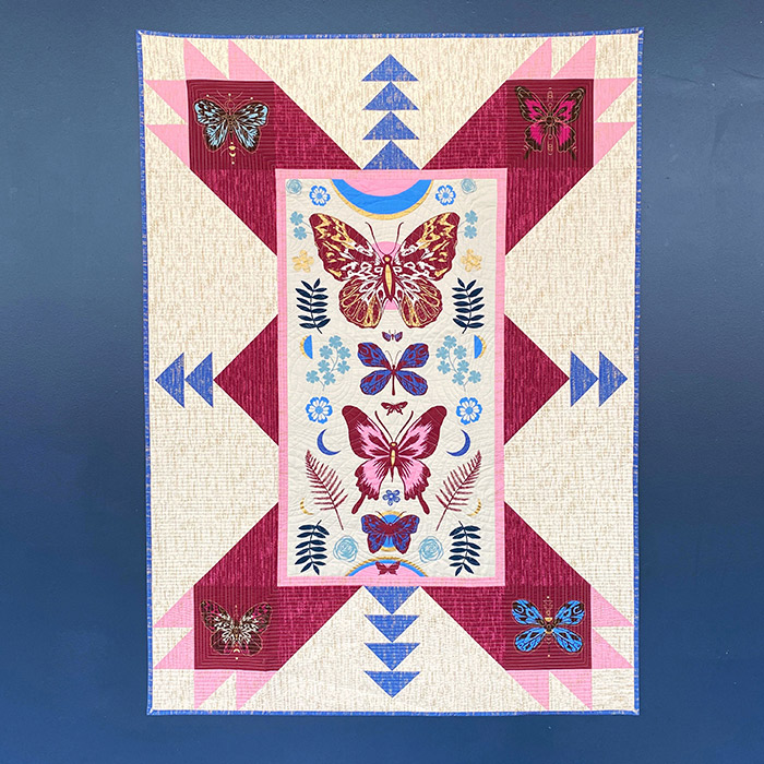 PSRS2011 Magic Butterfly Panel Quilt Tiger Fly Ruby Star