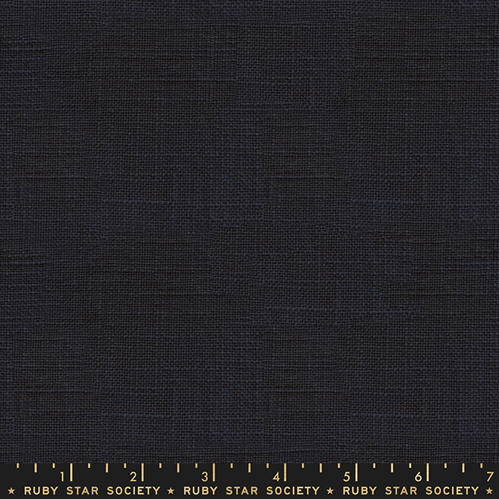 Ruby Star Warp Weft Wovens - Chore Coat Textured Solid - Navy