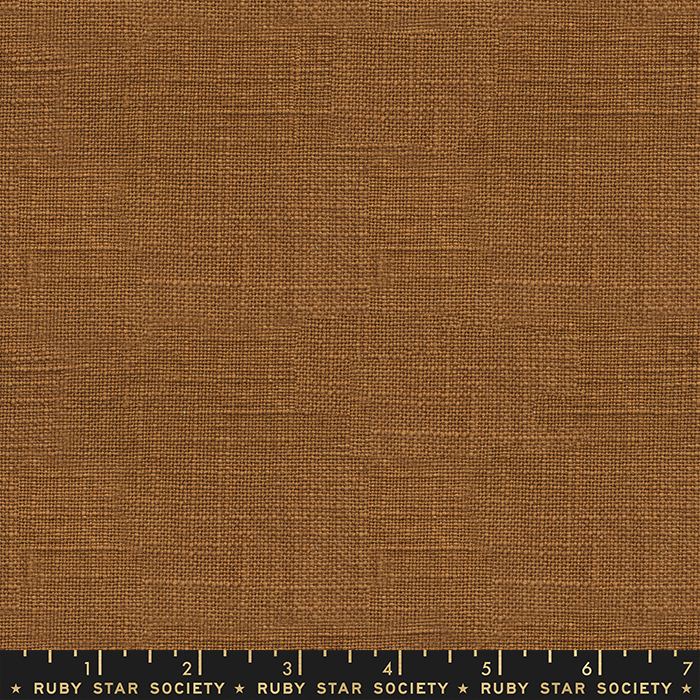Ruby Star Warp Weft Wovens - Chore Coat Textured Solid - Earth