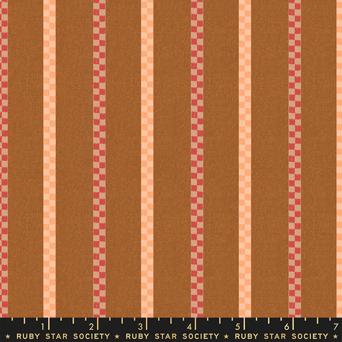 Ruby Star Warp Weft Wovens Matinee Stripes - Earth