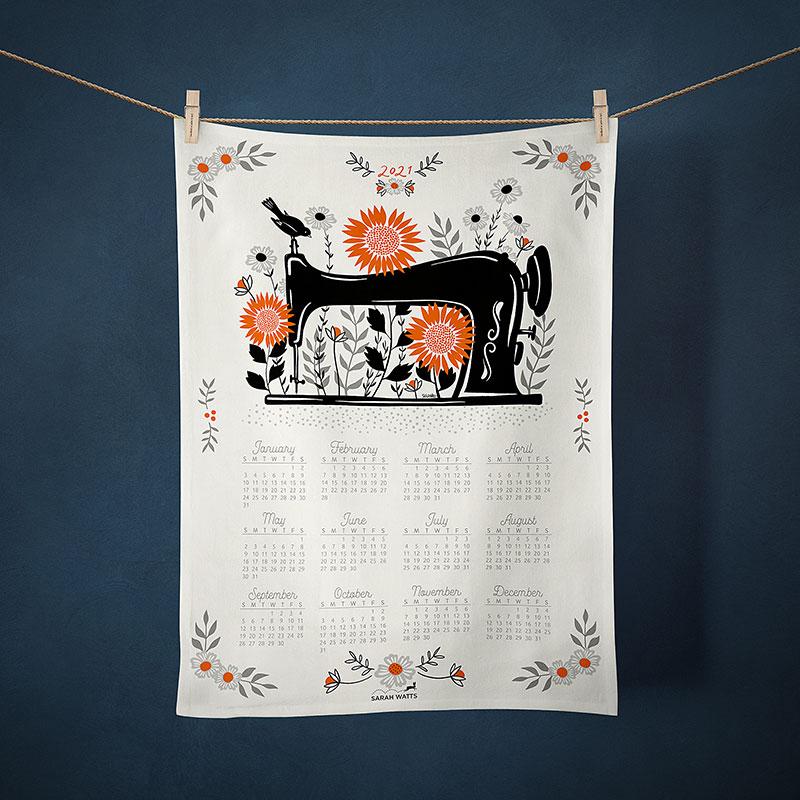 RSS | 2021 Tea Towel - Garden Sewing