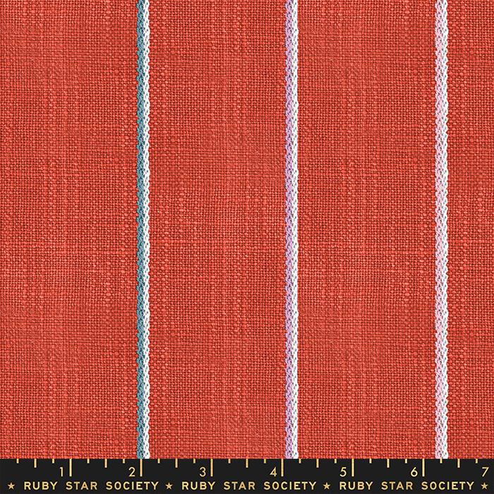 Warp Weft Heirloom - Chore Coat Stripe - Persimmon