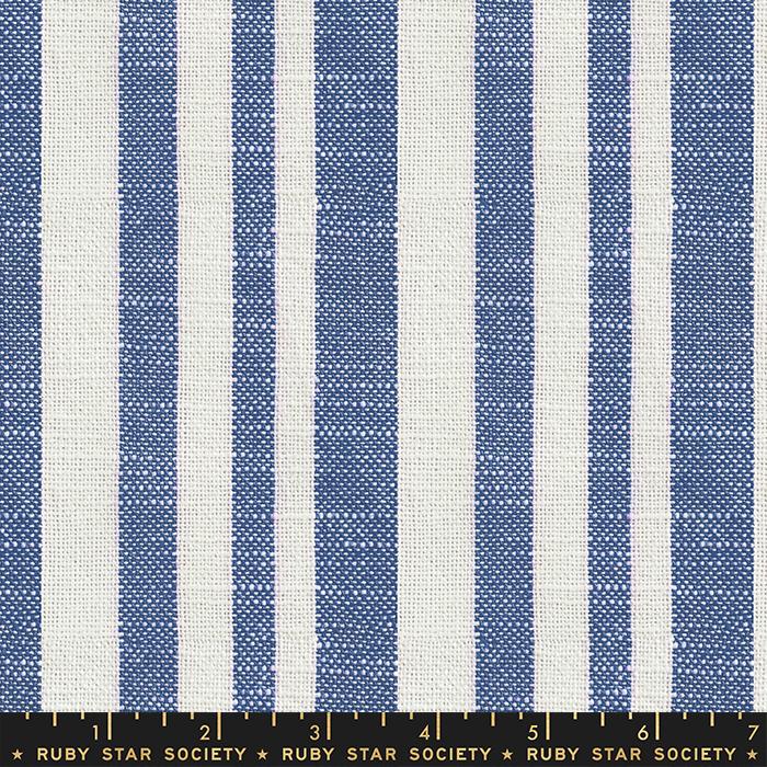 Warp Weft Heirloom - Woven Texture Stripe - Bluebell