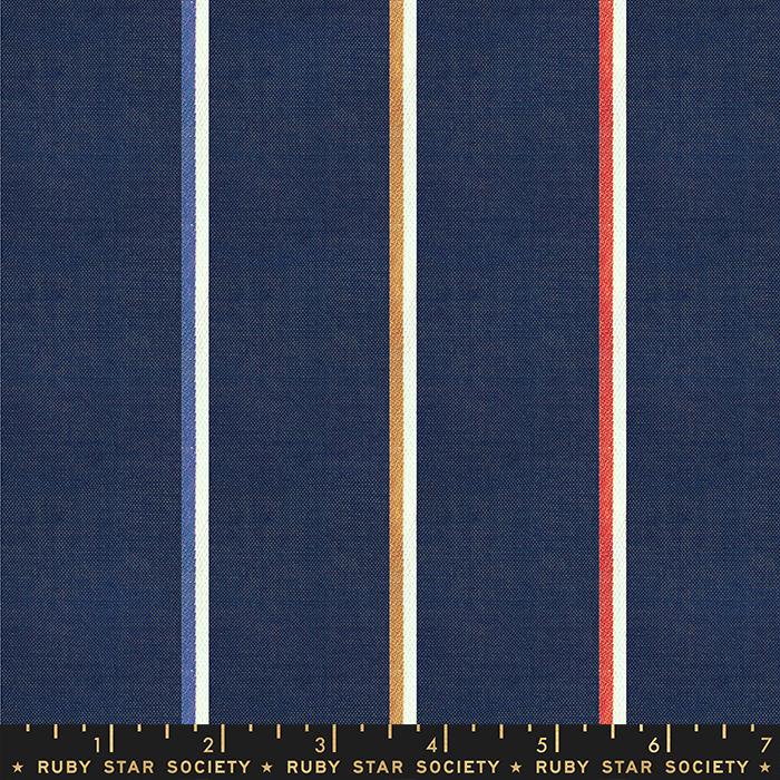 Warp Weft Heirloom - Linework - Navy