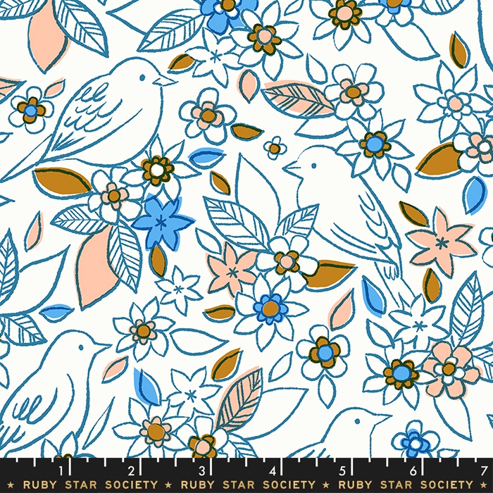 Aviary Botanical Chambray