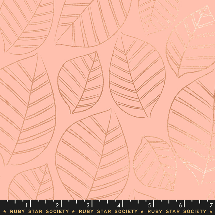 Aviary Leafy Metallic Peach RS5003 12M