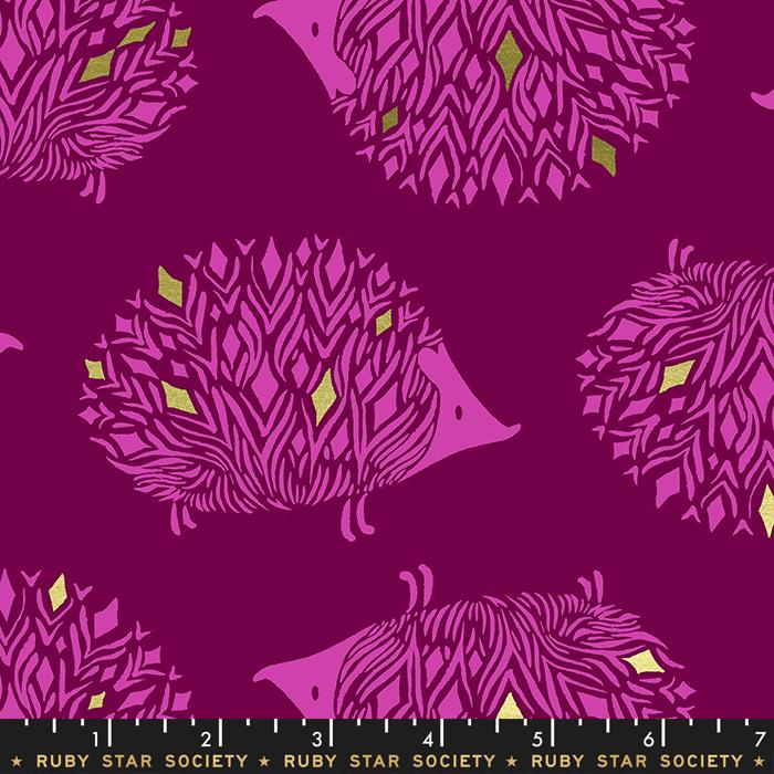 Darlings Metallic - Hedgehogs Purple Velvet