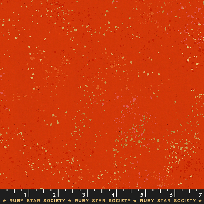 Speckled Metallic Warm Red by Rashida Coleman Hale