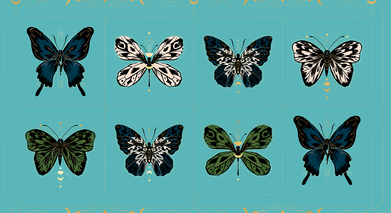 RS2012 13M Turquoise Tiger Fly Panel Met Ruby Star Society Moda