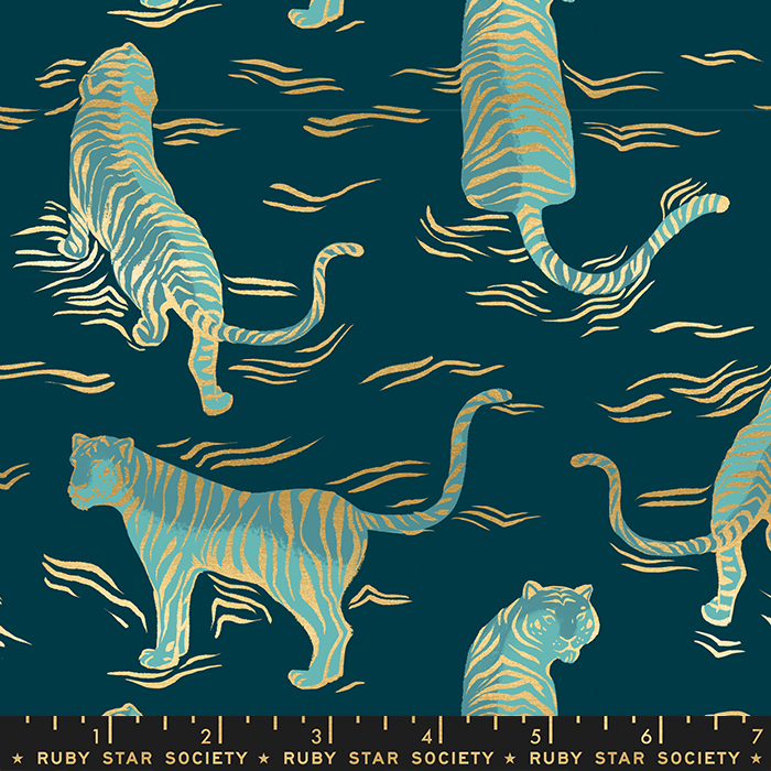 Tigress, Metallic Dark Teal, Tiger Fly