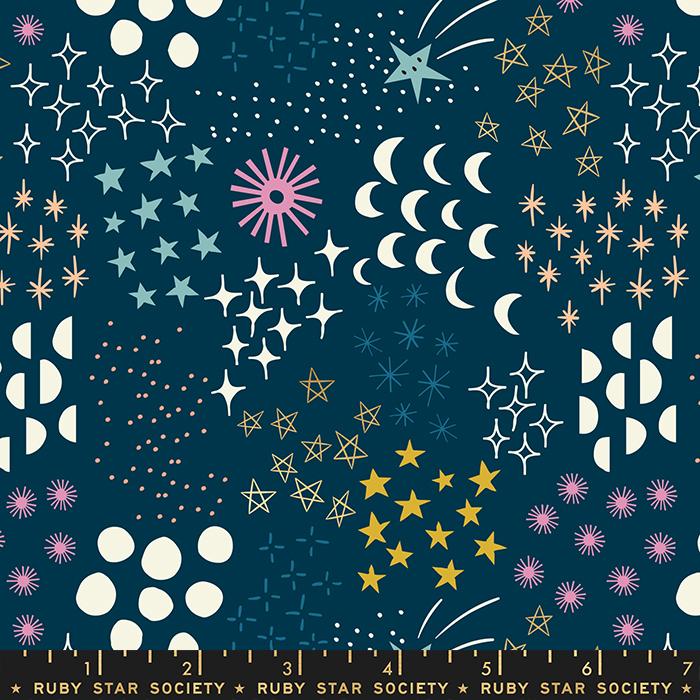 RS1007 13M Stellar Metallic Dark Teal Final Frontier by Rashida Coleman Hale