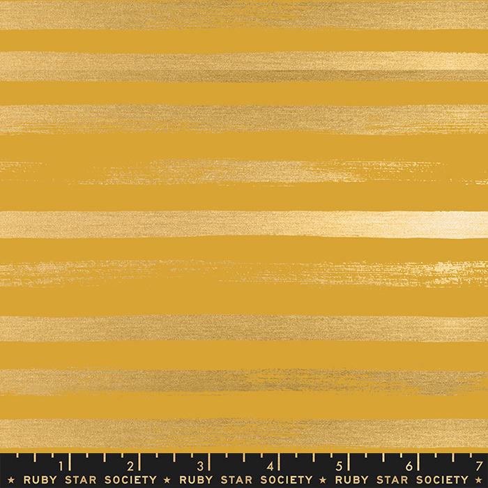 Zip Metallic, Goldenrod - by Rashida Coleman Hale for Ruby Star Society / Moda