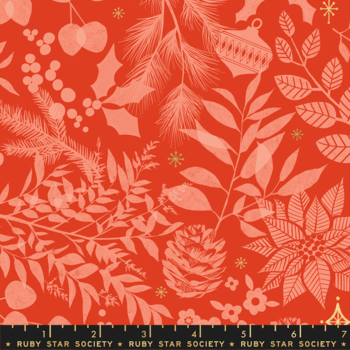 Candlelight Prints - Winter Garden Poinsettia