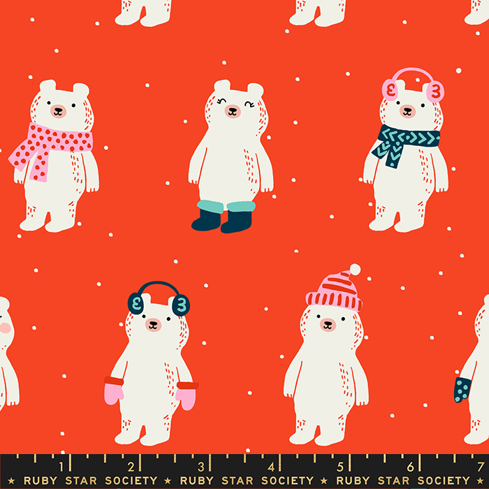 Ruby Star Society Flurry Snow Bears in Ruby