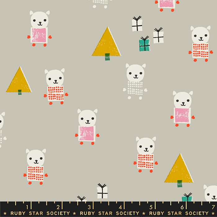 Flurry Meowy Christmas Wool by Ruby Star Society for Moda RS5030-11
