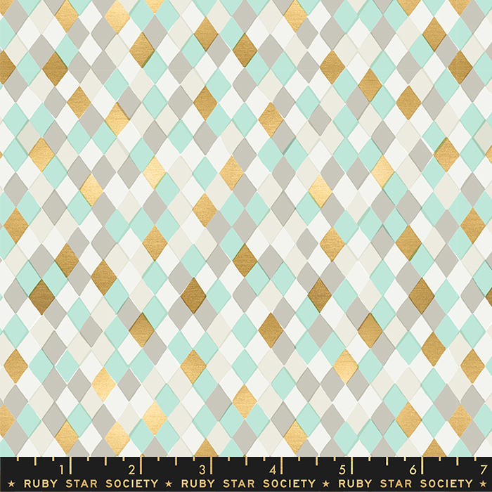 Flurry - Gift Wrap Mint Metallic 32.11