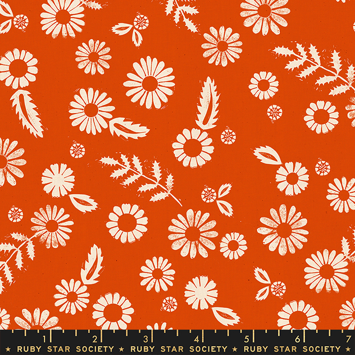 Golden Hour Daisy Warm Red