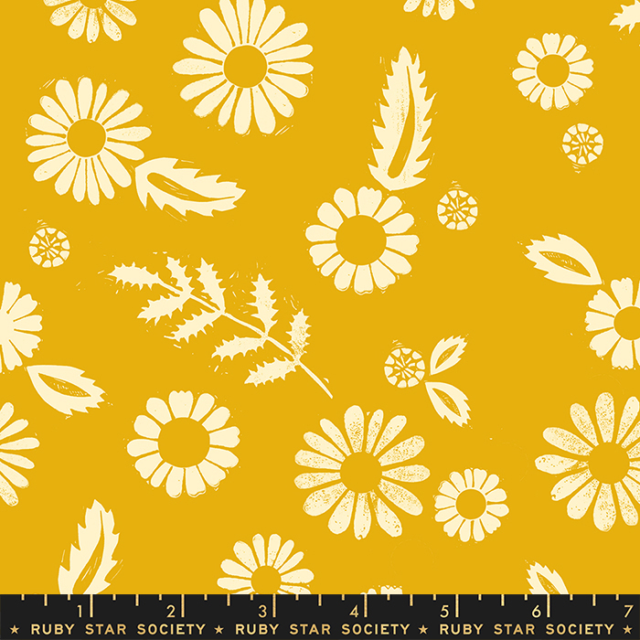 Golden Hour Rayon in Goldenrod