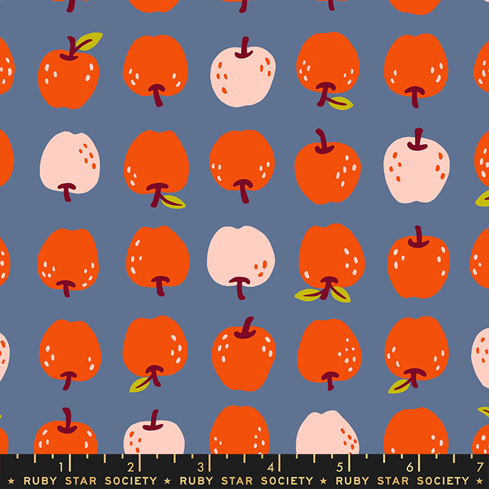 Smol Them Apples Denim RS3016 15 Ruby Star Society