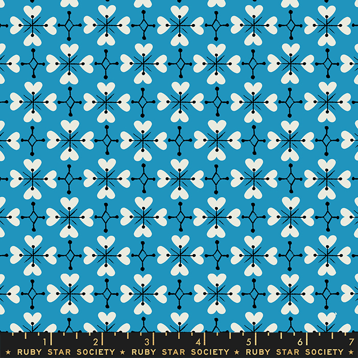 Smol Coeur De Fleur Bright Blue