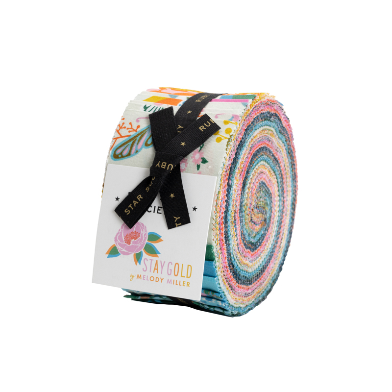 Stay Gold Jelly Roll by Ruby Star for Moda RS0018JR