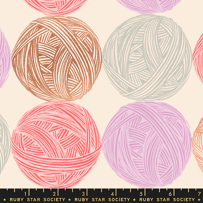 Ruby Star Society Purl - Wound Up Canvas in Natural w/ Copper Metallic
