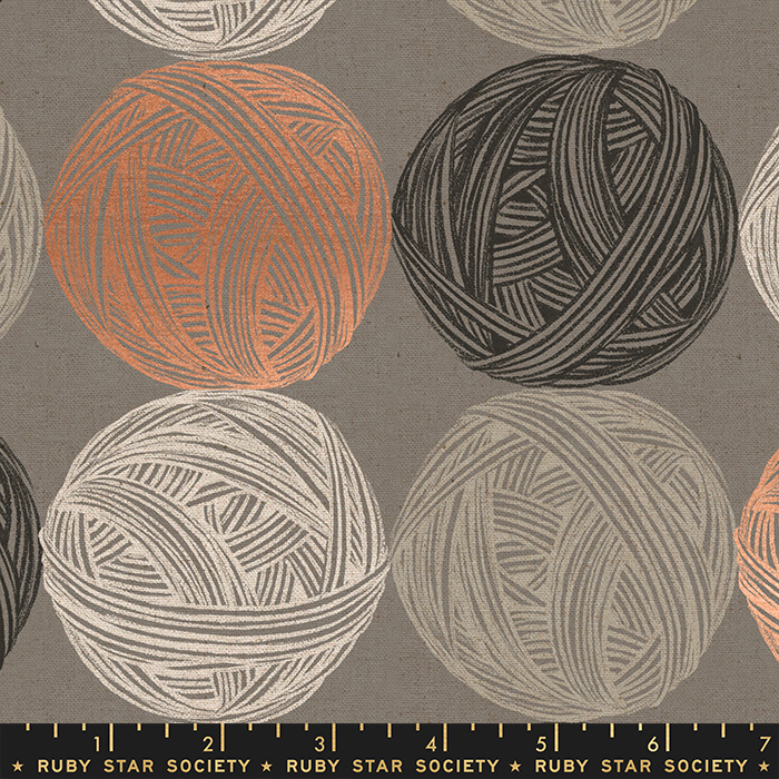 Ruby Star Society Purl Cotton/Linen Canvas - Wound Up - Wool Metallic