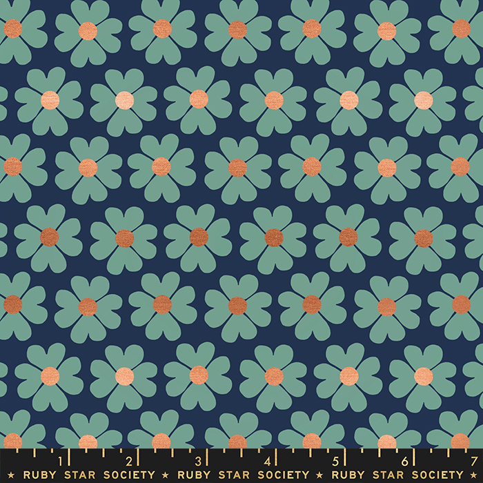 Unruly Nature - Heart Flower - Navy RS6011 18M