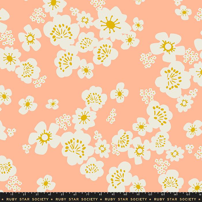 Ruby Star Society Whatnot Cotton Sateen Wideback - Peach 108