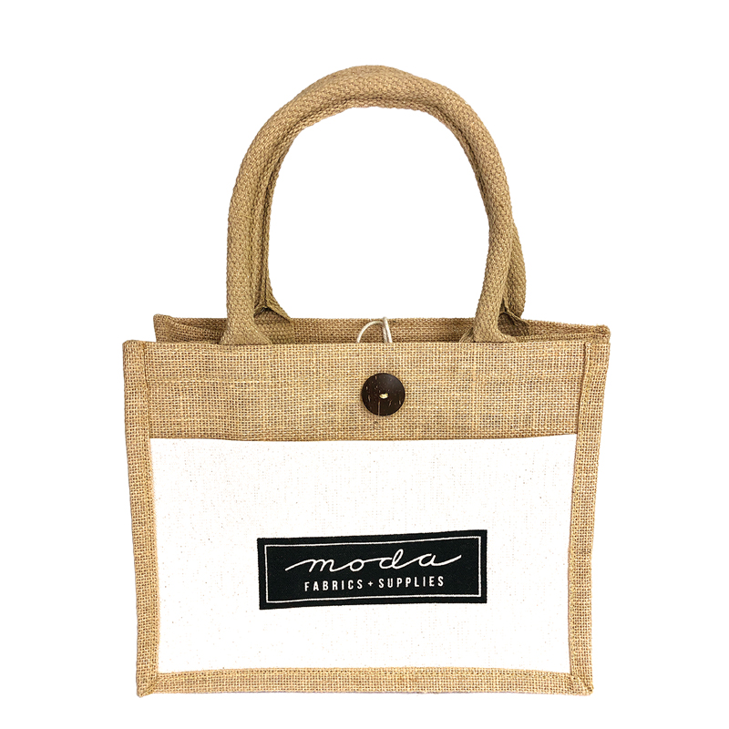 Jute & Cotton Bag w/Moda Logo