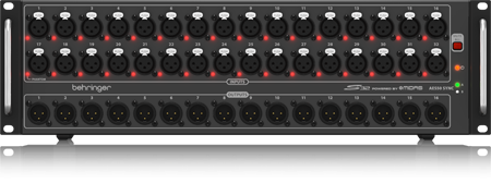 I/O Box With 32 Remote-Controllable MIDAS Preamps, 16 Outputs And AES50 Networki...
