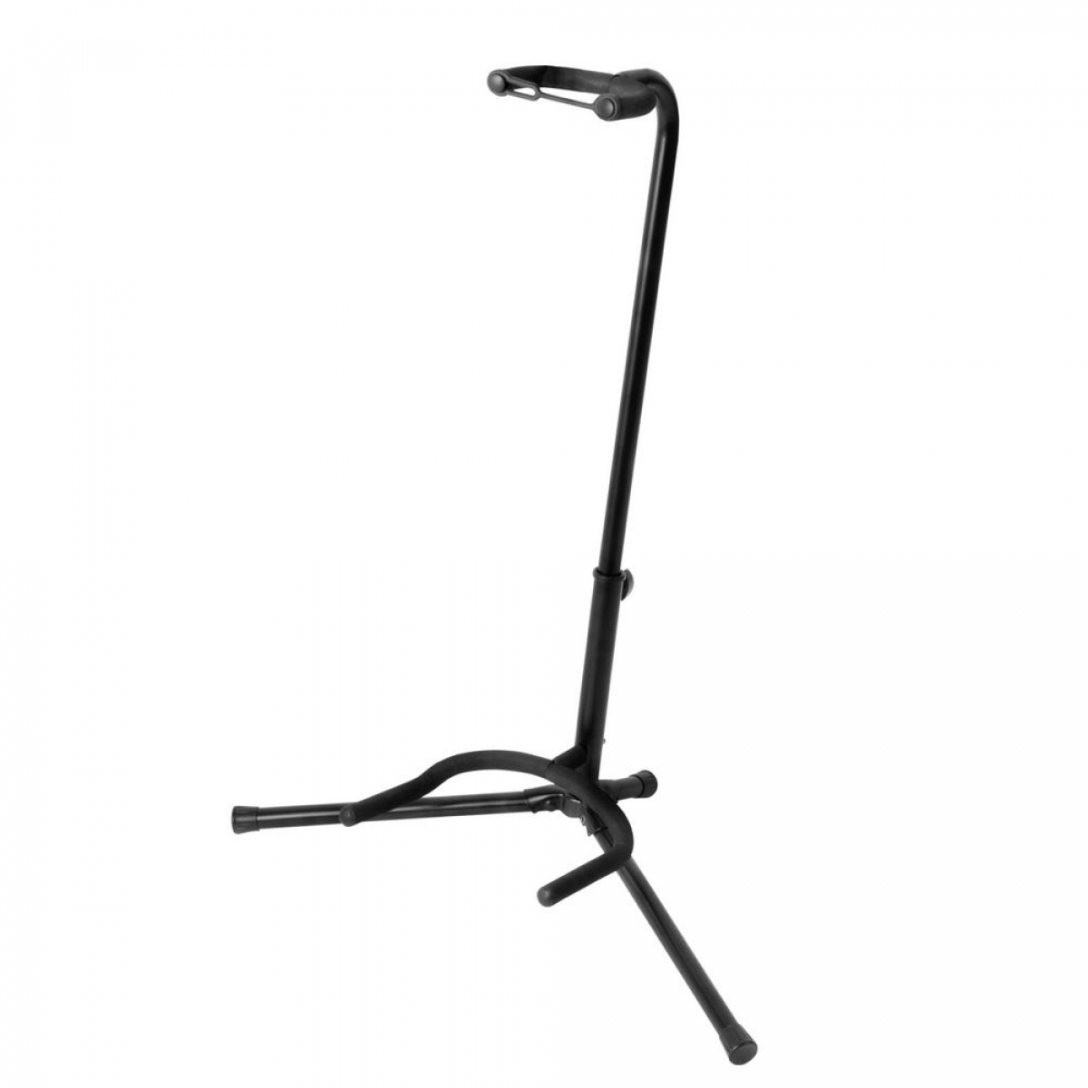 On Stage Black Tubular Guitar Stand with Neck Strap