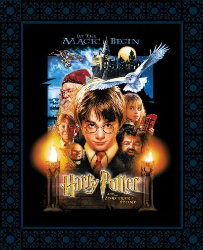 Harry Potter -  Sorcerer's Stone Poster Black