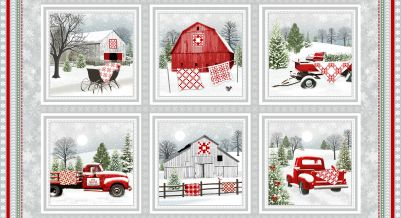 Holiday Heartland Red Truck Christmas Panel