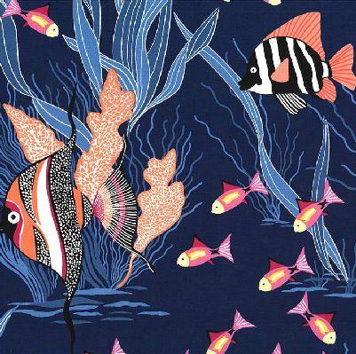 MM- Fishtopia Navy Seascape Fish